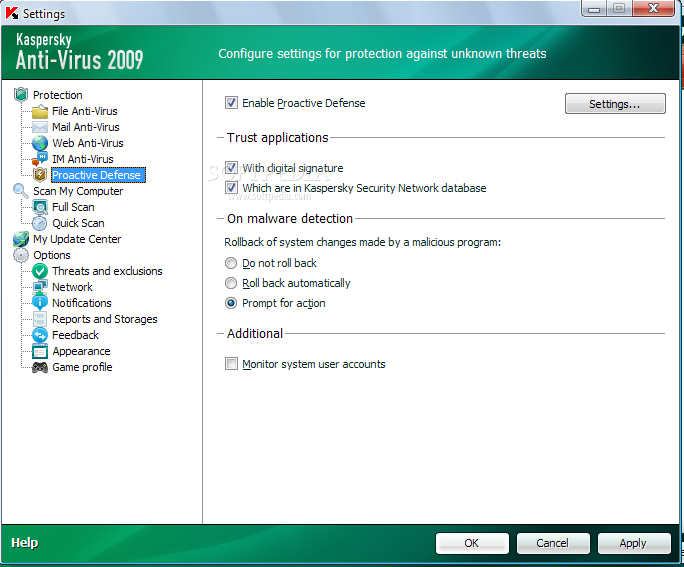 Kaspersky anti virus personal pro 6.0.2.621
